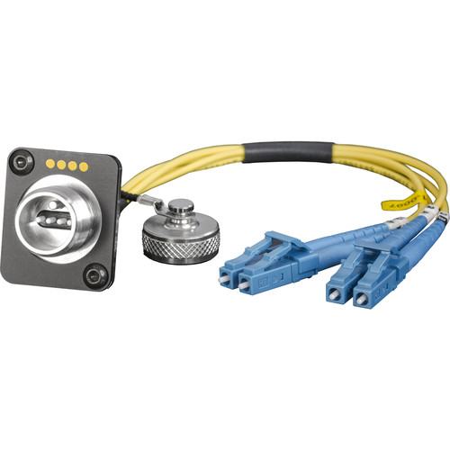 """FieldCast 4Core Single-Mode Chassis to Two LC Connector Cable (19.7"""")"""