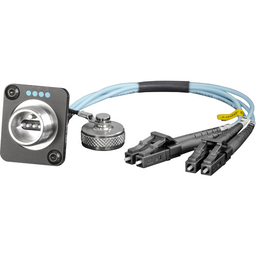 """FieldCast 4Core Multi-Mode Chassis to Two LC Connector Cable (19.7"""")"""