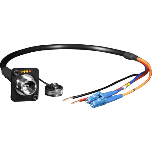 """FieldCast 2Core Single-Mode Hybrid Female Chassis Connector to LC Duplex Cable (19.7"""")"""