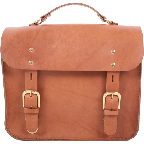 Figbags The Hanborough Leather Satchel (Tan)
