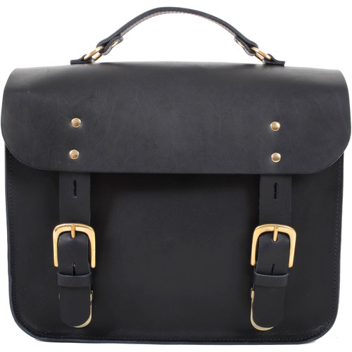 Figbags The Hanborough Leather Satchel (Navy)