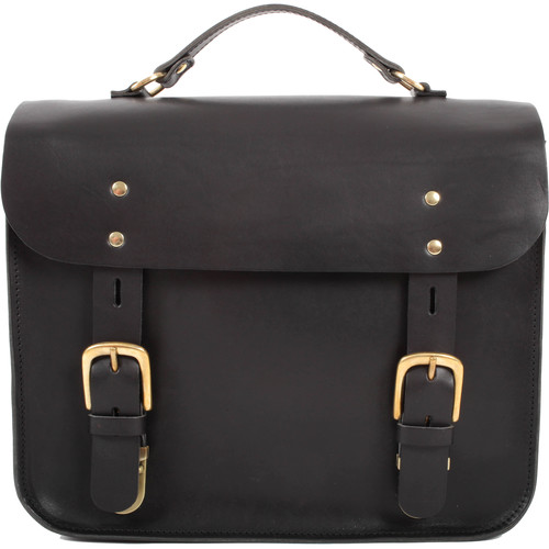 Figbags The Hanborough Leather Satchel (Black)