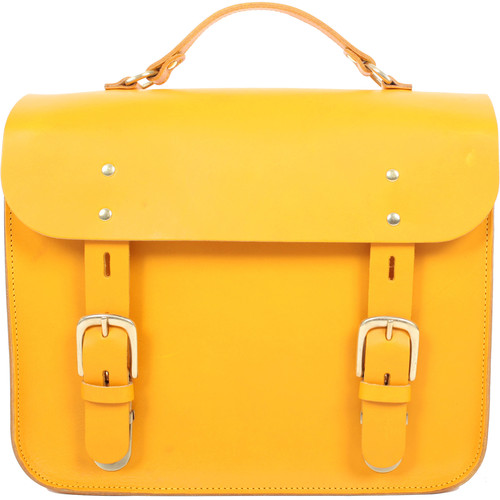 Figbags The Hanborough Leather Satchel (Yellow)