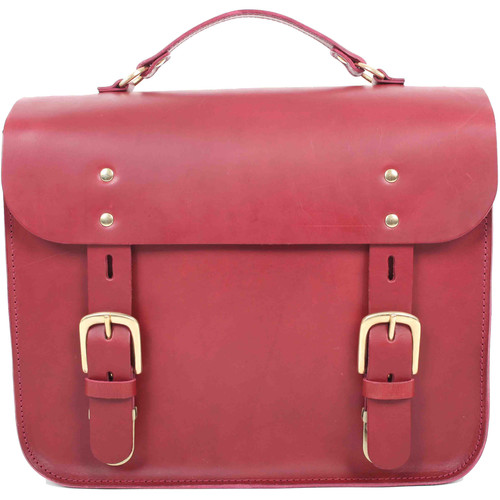 Figbags The Hanborough Leather Satchel (Burgundy)