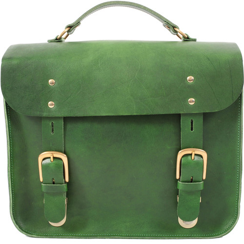Figbags The Hanborough Leather Satchel (Green)