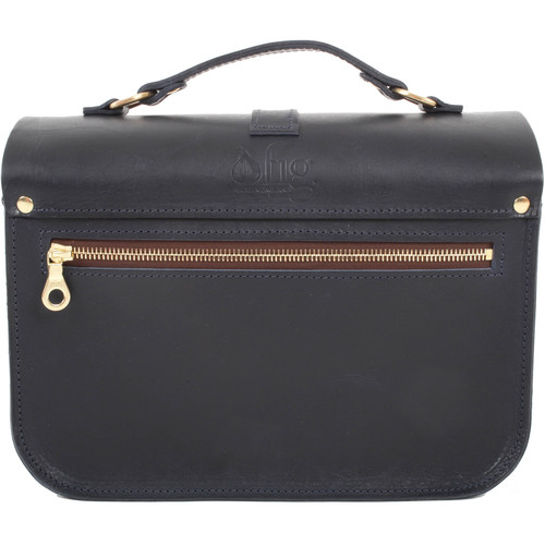 Figbags The Lincoln Leather Bag (Navy)