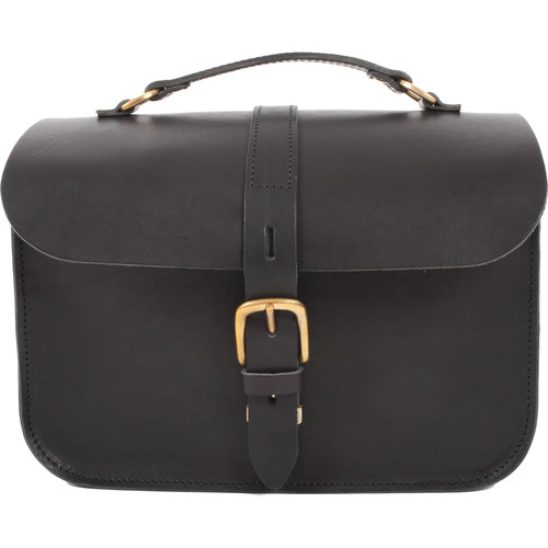 Figbags The Lincoln Leather Bag (Black)