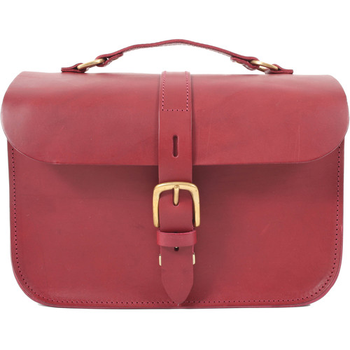 Figbags The Lincoln Leather Bag (Burgundy)