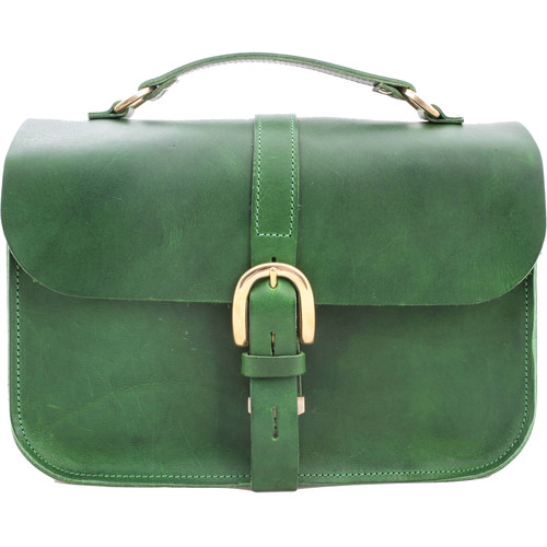 Figbags The Lincoln Leather Bag (Green)