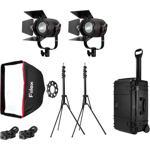 Fiilex K201 Classic 2-Light Interview Travel Kit