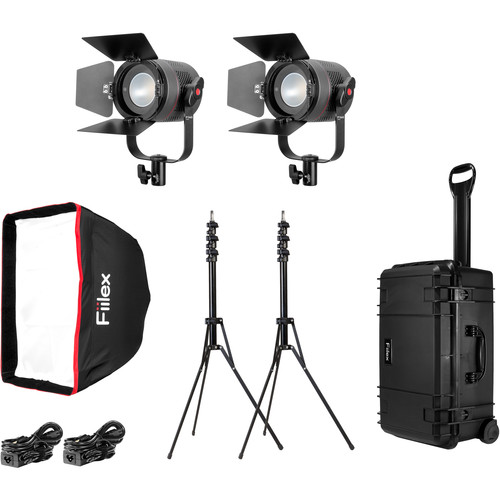 Fiilex K201P P360 Pro 2-Light LED Interview Travel Kit