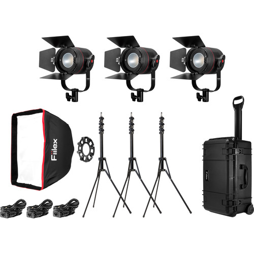 Fiilex K301 Classic 3-Light Interview Travel Kit
