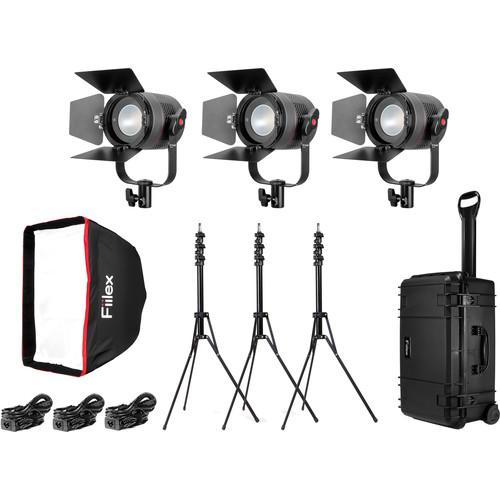 Fiilex K301P P360 Pro 3-Light LED Interview Travel Kit