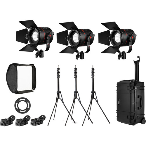 Fiilex K301PP P360 Pro Plus 3-Light LED Interview Travel Kit