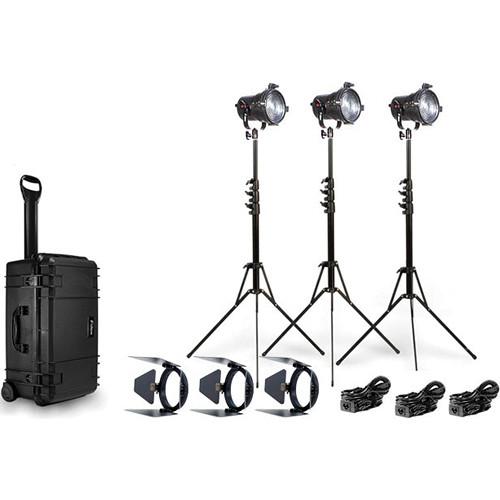 Fiilex K303 Three Light P360 Fresnel Travel Kit