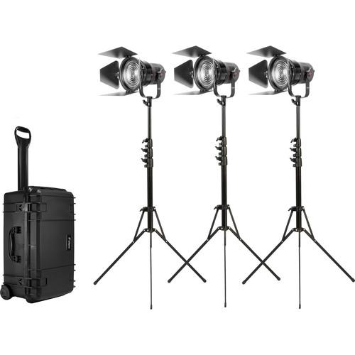 """Fiilex K305 Classic 3-Light 5"""" Fresnel Travel Kit"""