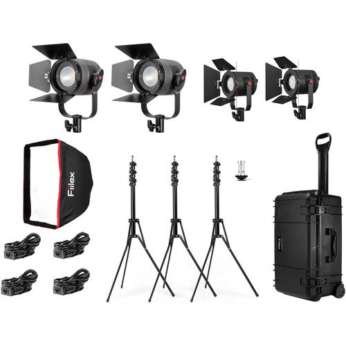 Fiilex K411P 4-Light LED Travel Kit