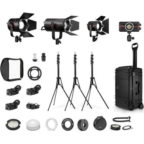 Fiilex K416 P360EX, P180E, P200, P100 4-Light Travel Kit
