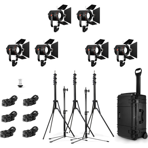 Fiilex K681 6-Light P180E LED Travel Kit
