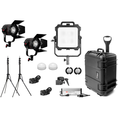 Fiilex X342 Gaffer's Travel Kit with 1 x Matrix II RGBW & 2 x P360 Pro Plus