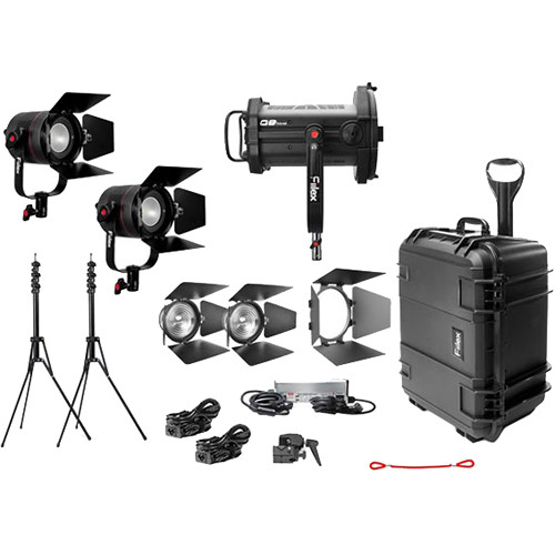 Fiilex X381 3-Light Bi-Color LED Gaffer's Kit with Case