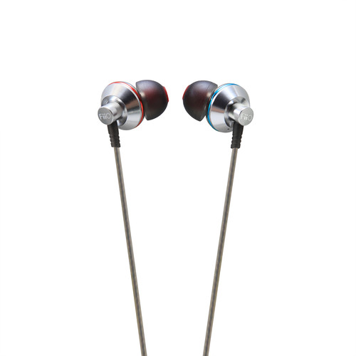 FiiO EX1 Aerospace Nanotech Titanium Diaphragm In-Ear Monitors (Silver)