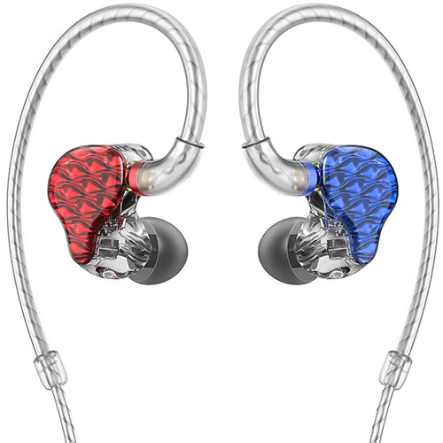 FiiO FA7 Quad Driver Balanced Armature In-Ear Monitors (Red/Blue)