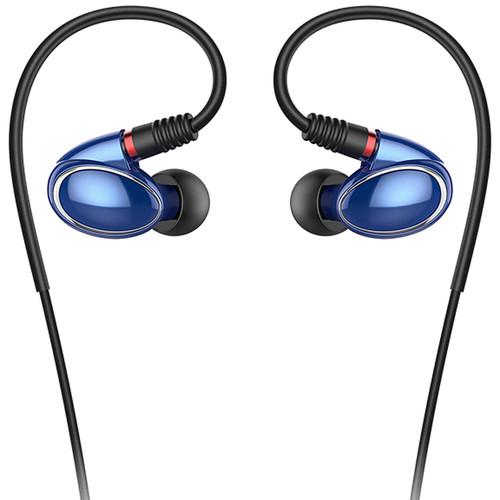 FiiO FH1 Balanced Armature-Dynamic Hybrid In-Ear Monitors (Blue)