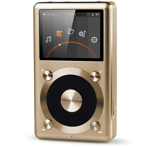 FiiO X3 (2nd Gen) Portable High Resolution Audio Player (Gold)
