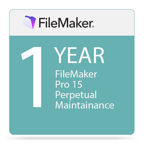 FileMaker Pro 15 Perpetual with 1-Year Maintenance (1-24 Seats, Download)