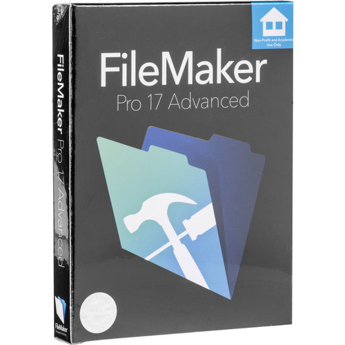 FileMaker Pro 17 Advanced (Education & Non-Profit Edition, Boxed)