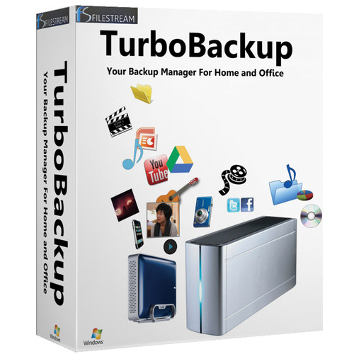 FileStream TurboBackup 9.1 for Windows (1 User, 1 PC)