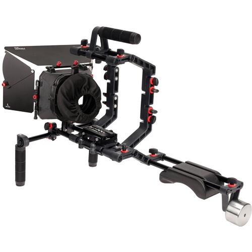 FILMCITY DSLR Camera Cage Shoulder Support Rig Kit with Matte Box