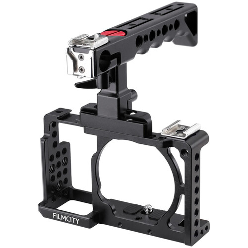 FILMCITY DSLM Video Cage with Top Handle for Select Sony Mirrorless