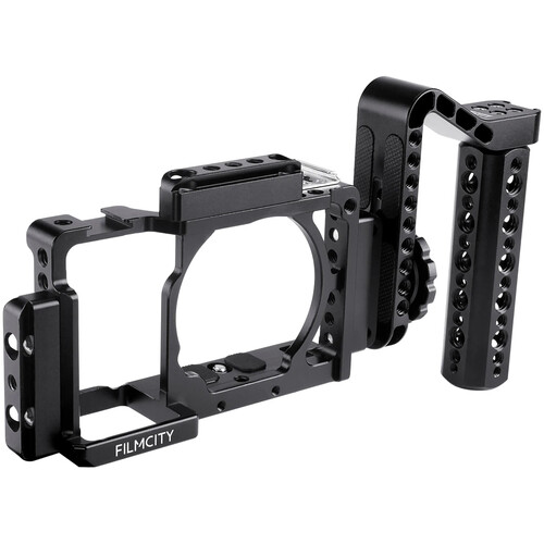 FILMCITY DSLM Video Cage with Side Handle for Select Sony Mirrorless