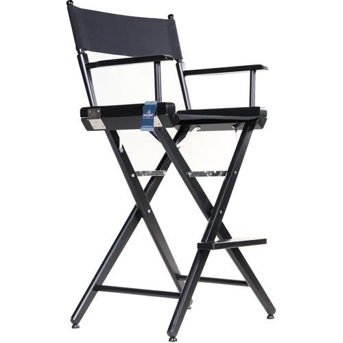 "Filmcraft Pro Series Tall Director's Chair (30"", Black Frame, Black Canvas)"