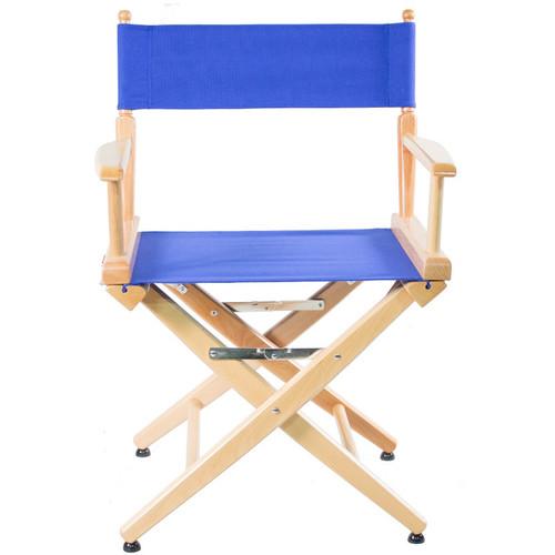 "Filmcraft Pro Series Short Director's Chair (18"", Natural Frame, Blue Canvas)"