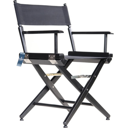 "Filmcraft Pro Series Short Director's Chair (18"", Black Frame, Black Canvas)"