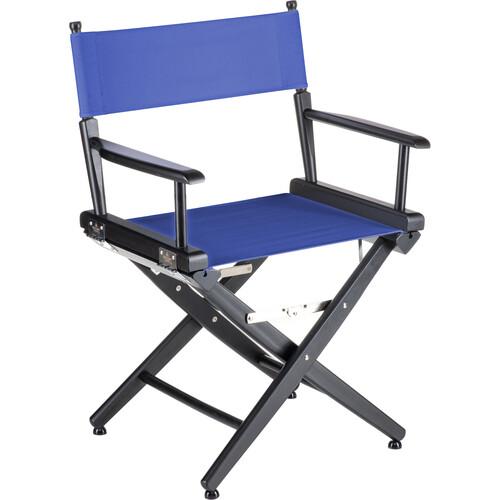 "Filmcraft Pro Series Short Director's Chair (18"", Black Frame, Blue Canvas)"