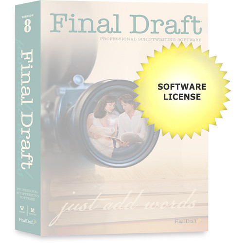 Final Draft 5 to 25 Seat License for Final Draft 8 Screenwriting Software