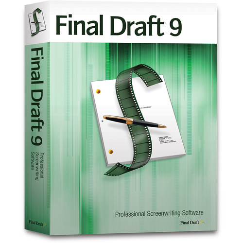 Final Draft 9 Screenwriting Software (DVD)