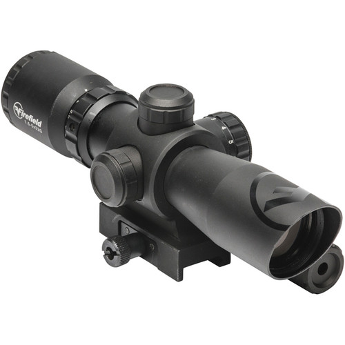 Firefield 1.5-5x32 Barrage Riflescope with Green Laser (Red-Green Mil-Dot Illuminated Reticle, Matte Black)