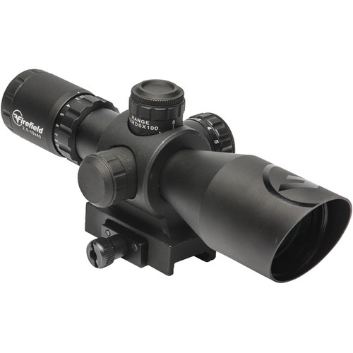 Firefield 2.5-10x40 Barrage Riflescope (Red-Green Mil-Dot Illuminated Reticle, Matte Black)