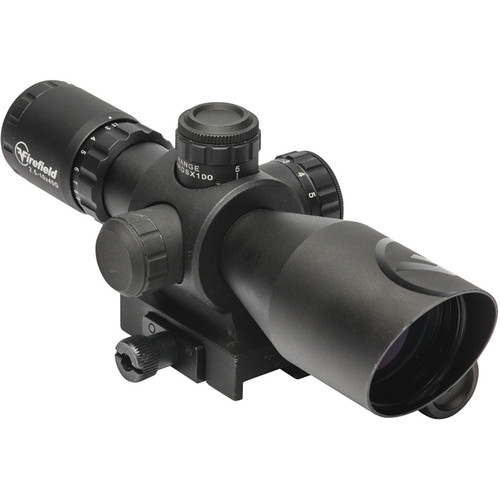 Firefield 2.5-10x40 Barrage Riflescope with Green Laser (Red-Green Mil-Dot Illuminated Reticle, Matte Black)
