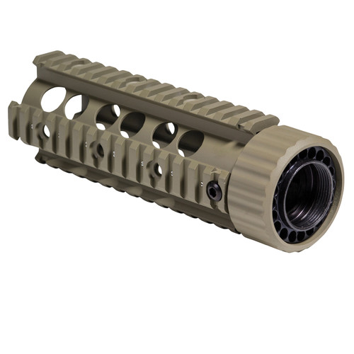 "Firefield FF34004 Carbine 6.9"" Free-Floating Quad Rail Hand Guard (Dark Earth)"