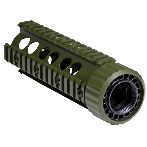 "Firefield Carbine 6.9"" Floating Quad Rail (Olive Drab)"
