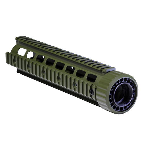 "Firefield Carbine 10.25"" Floating Quad Rail (Olive Drab)"