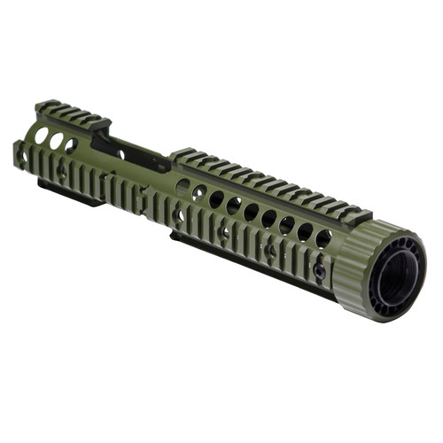 "Firefield FF34006 Carbine 12.25"" Free-Floating Quad Rail Hand Guard (Olive Drab)"