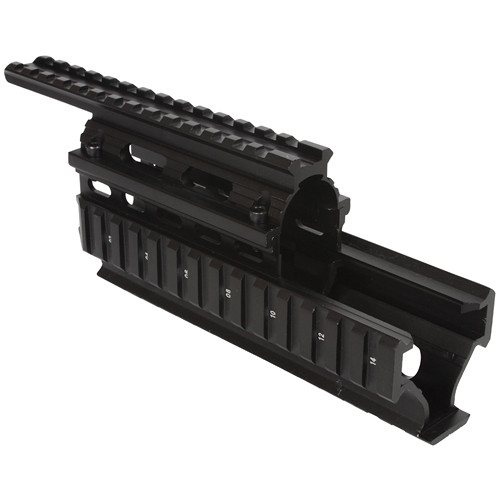 "Firefield FF34008 Carbine 8.65"" AK Quad Rail Hand Guard (Black)"