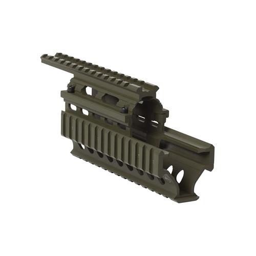 """Firefield FF34008 Carbine 8.65"""" AK Quad Rail Hand Guard (Olive Drab)"""